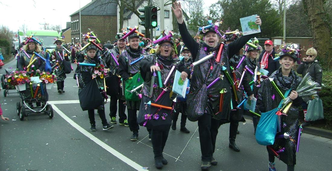 TTC Bachem -1.Platz- Schönste Fußgruppe im Karnevalszug Frechen